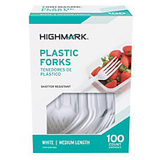 Highmark Medium Length Plastic Cutlery Forks