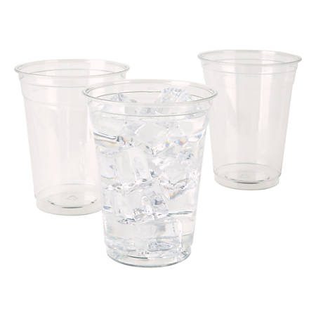 Highmark® Plastic Cups, 16 Oz, Clear, Pack Of 100 Cups