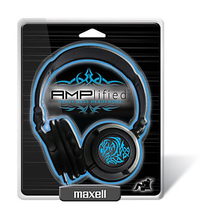 Maxell® Amplified Heavy Bass Over-The-Ear Headphones, Blue