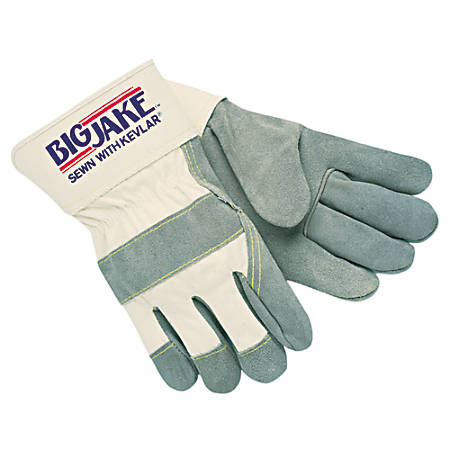 Heavy-Duty Side Split Gloves, Small, Leather