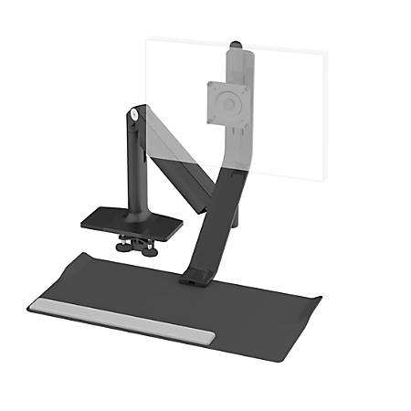 Humanscale® QuickStand Lite For Heavy Monitor, Single Screen Up To 22 Lb, Black