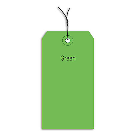 """Office Depot® Brand Prewired Color Shipping Tags, #1, 2 3/4"""" x 1 3/8"""", , Box Of 1,000"""