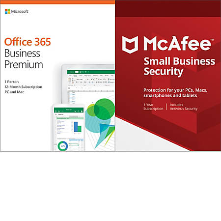 Microsoft Office 365 Business Premium- McAfee Small Business Security Bundle