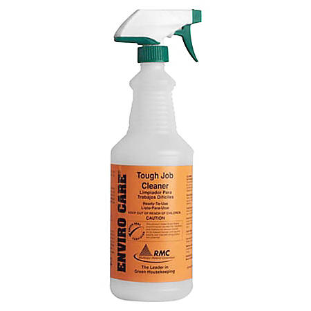 RMC Snap! Bottle For RMC Enviro Care Tough Job Cleaner, 1 Qt, Clear Frosted
