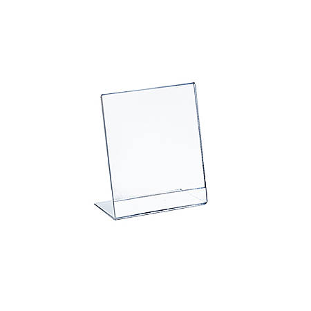 """Azar Displays Acrylic L-Shaped Sign Holders, 4"""" x 6"""", Clear, Pack Of 10"""