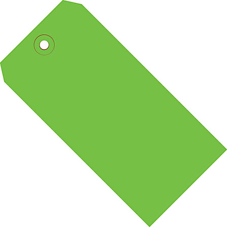 """Office Depot® Brand Color Shipping Tags, #5, 4 3/4"""" x 2 3/8"""", Green, Box Of 1,000"""