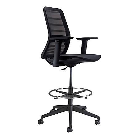 Koplus Tonique Mesh Drafting Chair, Midnight Black