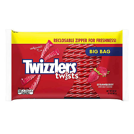 Twizzlers Strawberry Twists, 32-Oz Zipper Bags, Pack Of 2 Bags