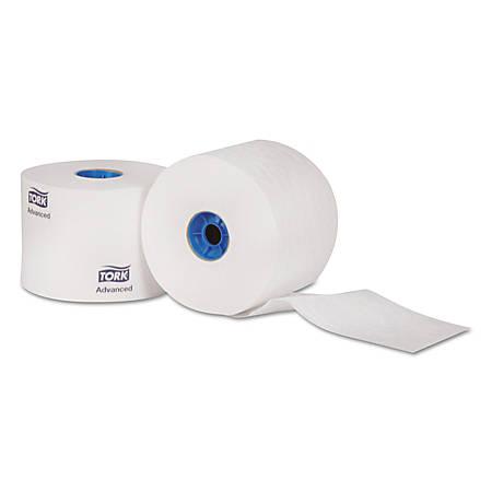 "Tork® Advanced High-Capacity 2-Ply Bathroom Tissue, 4"" x 3 3/4"", White, Pack Of 36 Rolls"
