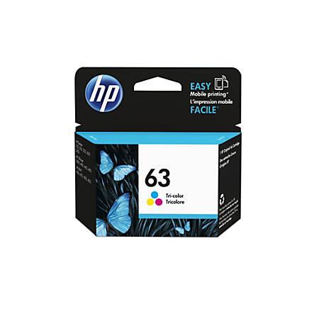 HP 63 Original Ink Cartridge, Tri-Color (F6U61AN)