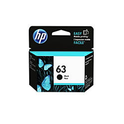 HP 63 Black Ink Cartridge F6U62AN