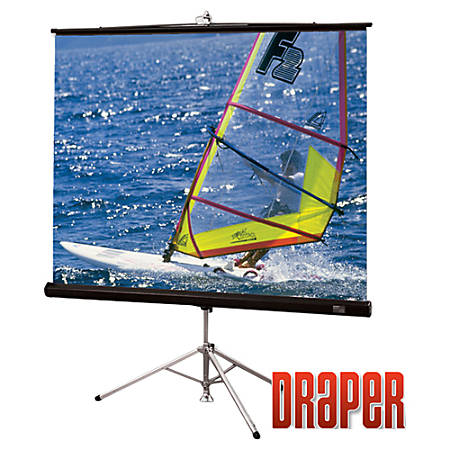"Draper Diplomat/R 109"" Manual Projection Screen - Yes - 16:10 - Matte White - 61.5"" x 96"""
