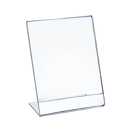 """Azar Displays Acrylic L-Shaped Sign Holders, 17"""" x 11"""", Clear, Pack Of 10"""