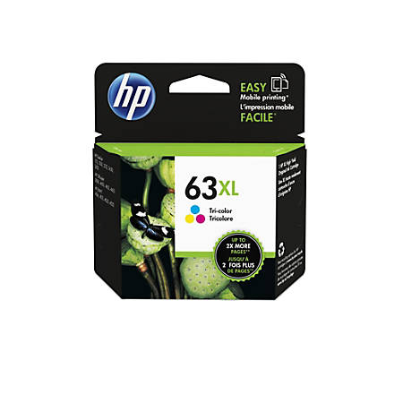 HP 63XL High Yield Tri-Color Original Ink Cartridge (F6U63AN)