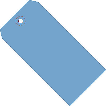 "Office Depot® Brand Color Shipping Tags, #8, 6 1/4"" x 3 1/8"", Dark Blue, Box Of 1,000"