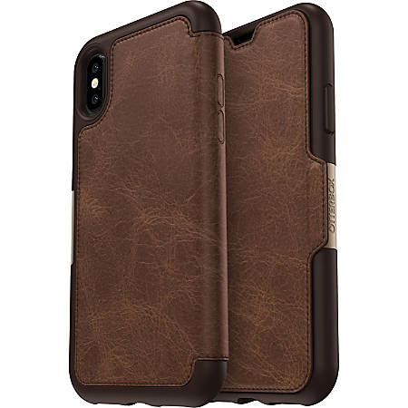 OtterBox Strada Carrying Case (Folio) iPhone X - Espresso