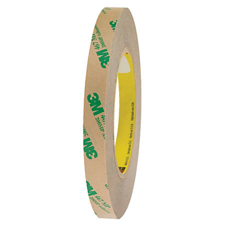 """3M™ 467MP Adhesive Transfer Tape, 3"""" Core, 0.5"""" x 60 Yd., Clear, Case Of 6"""