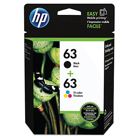 2P Black /& Color 63 XL Ink Set for HP Officejet 3830 4650 4652 4654 4655 /& More