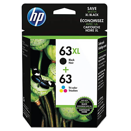 Compatible 2 Black+1 Color Ink fit 63XL 63-XL For HP Deskjet 2132 2133 2134 3630