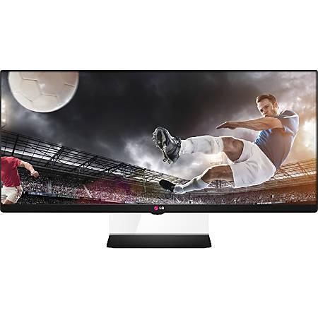 "LG 34UM64-P 34"" Widescreen HD LCD Monitor, Black/Silver"