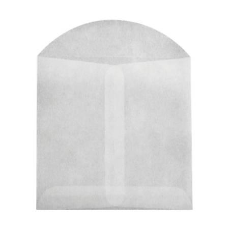 """LUX Open-End Envelopes With Flap Closure, 4"""" x 4"""", Glassine, Pack Of 100"""