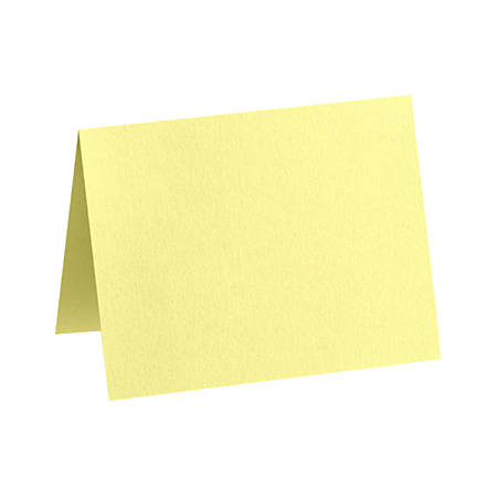 """LUX Folded Cards, A2, 4 1/4"""" x 5 1/2"""", Lemonade Yellow, Pack Of 1,000"""