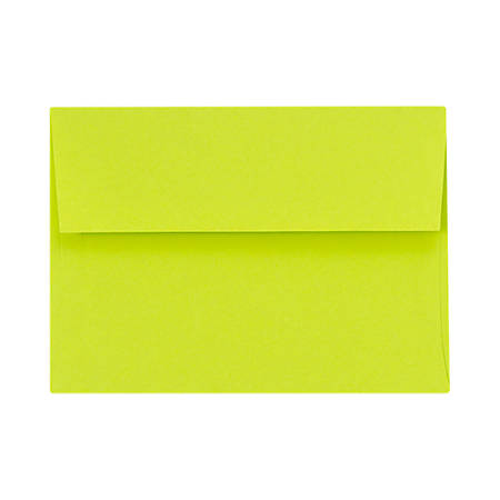 "LUX Invitation Envelopes With Peel & Press Closure, A7, 5 1/4"" x 7 1/4"", Wasabi, Pack Of 500"
