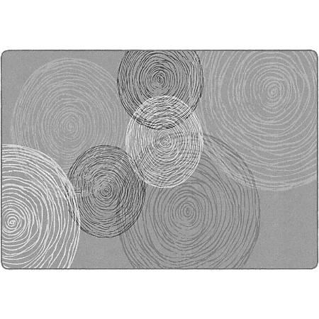 "Flagship Carpets Kaleidoscope Rectangular Rug, 100"" x 144"", Gray"
