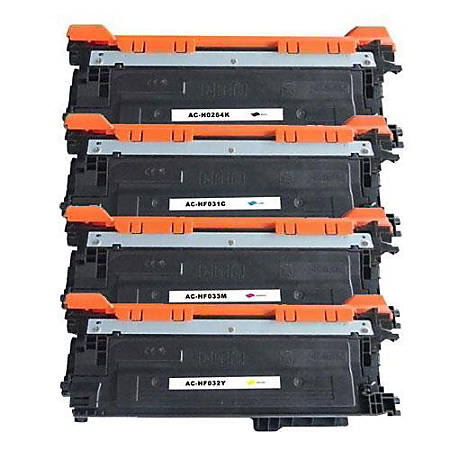 M&A Global Cartridge Remanufactured Toner Cartridges, Black/Cyan/Magenta/Yellow, HP646A 4CLR CMA (HP 646A / CF031A / CF032A / CF033A / CF0264X), Pack Of 4