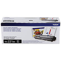Brother TN 221BK Black Toner Cartridge