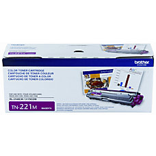 Brother TN 221M Magenta Toner Cartridge