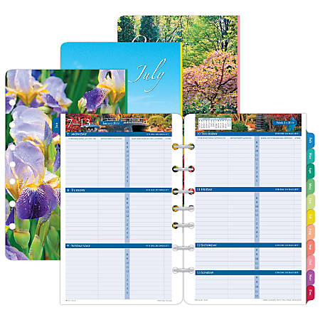 """Day-Timer® Garden Path 2-Page-Per-Week Refill, 5 1/2"""" x 8 1/2"""", January to December 2019"""