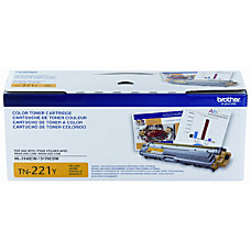 Brother TN 221Y Yellow Toner Cartridge