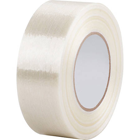"Business Source Heavy-duty Filament Tape, 2""x 60 yds., White"
