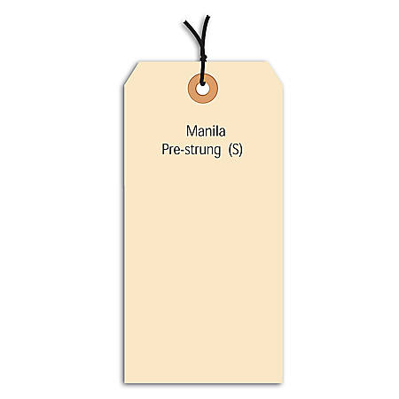 "Office Depot® Brand Prestrung Manila Shipping Tags, 10 Point, #7, 5 3/4"" x 2 7/8"", Box Of 1,000"