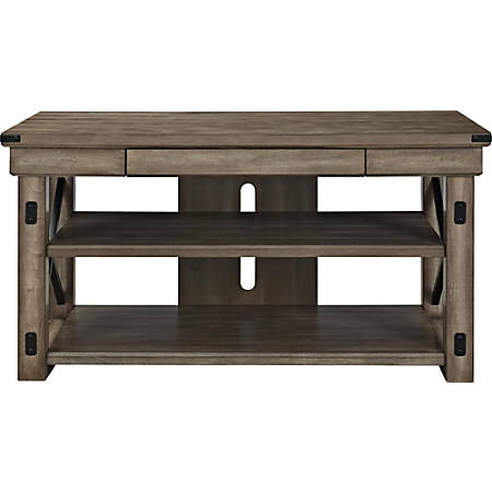 """Ameriwood™ Home Wildwood TV Stand For Flat-Screen TVs Up To 50"""", Black/Brown"""
