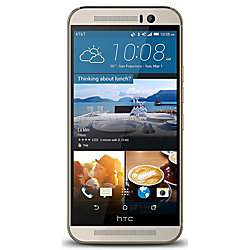 HTC One M9 Refurbished Cell Phone, Gold, PHC100082