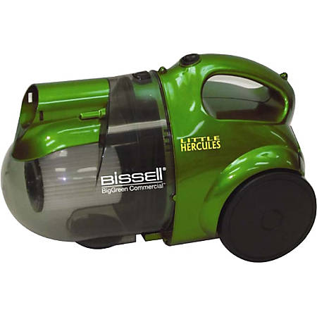 "BigGreen Little Hercules Canister Vacuum - 1000 W Motor - Bagless - Hose, Extension Wand, Filter, Floor Tool - Carpet - 15 ft Cable Length - 60"" Hose Length - AC Supply - 120 V AC - 84 dB(A) Noise - Green"