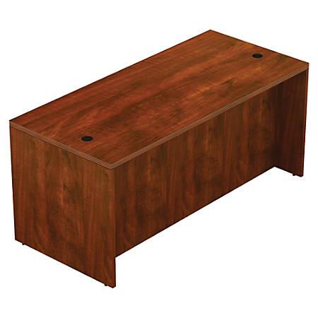 "Lorell® Chateau Series Shell Desk, 66""W x 30""D, Cherry"