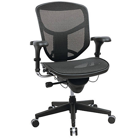 WorkPro® Quantum 9000 Mesh Multifunction Ergonomic Mid-Back Chair, Black