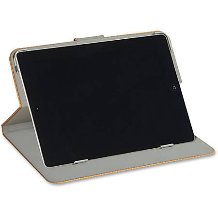 """Verbatim Folio Hex Case for iPad Air - Tangerine Orange - Scratch Resistant Interior, Smudge Resistant Interior - Textured"""""""