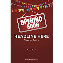 Custom Poster Opening Soon Bunting Vertical