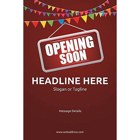Custom Poster, Opening Soon Bunting, Vertical