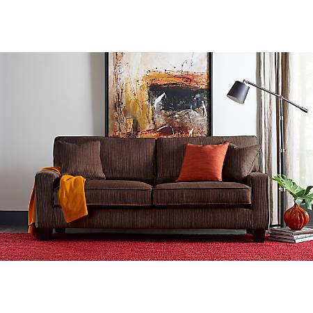 "Serta® Deep-Seating Palisades Sofa, 78"", Brown/Espresso"
