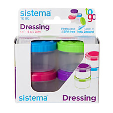 Sistema Dressing Pots To Go Assorted