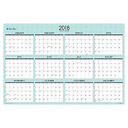Blue Sky Yearly Erasable Laminated Planner