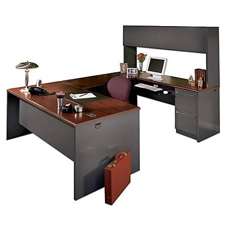 Hon 38000 Modular 72 W Desk Shell Mahogany Charcoal Item 511211