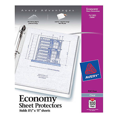 Avery® Top-Loading Nonstick Sheet Protectors, Economy , Box Of 50