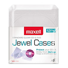 Maxell CDDVD Jewel Cases CD 360