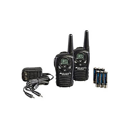 Midland LXT118VP Two-way Radio - 22 Radio Channels - 22 x GMRS/FRS - Upto 95040 ft - Auto Squelch, Keypad Lock, Silent Operation - Water Resistant - AAA - Alkaline
